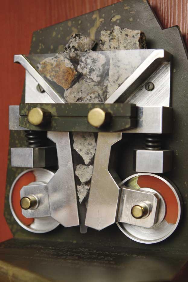 Макет щековой дробилки
