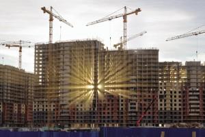 Строительство нового жилого квартала